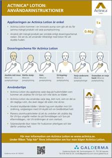 Actinica produktbeskrivning SE